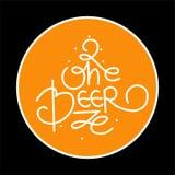 Ouvrez l'illustration de vecteur de logo de bière, conception de brasserie d'emblème sur le fond de texture illustration libre de droits