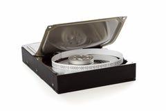 Ouvrez l'unité de disque dur et l'enregistrez sur bande avec des données binaires Photo libre de droits