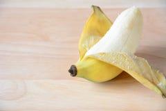 Ouvrez la banane Image libre de droits