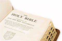 Ouvrez la bible Photographie stock