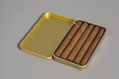 Ouvrez la boîte à cigares en métal Images libres de droits