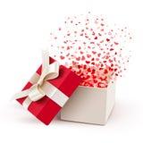Ouvrez la boîte-cadeau illustration stock
