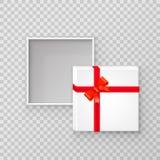 Ouvrez la boîte carrée de papier de cadeau illustration stock