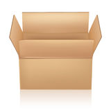 Ouvrez la boîte de carton Photo libre de droits