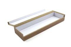 Ouvrez la boîte en bois Photographie stock libre de droits