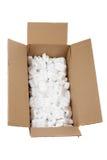 Ouvrez la boîte en carton Photographie stock