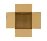 Ouvrez la boîte en carton Photo libre de droits