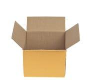Ouvrez la boîte en carton ondulé Photographie stock libre de droits