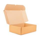 Ouvrez la boîte en carton ondulé Image libre de droits