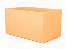 Ouvrez la boîte en carton ondulé Image stock