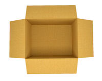 Ouvrez la boîte en carton ondulé Photos libres de droits