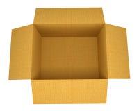 Ouvrez la boîte en carton ondulé Photos stock