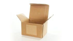 Ouvrez la boîte en carton ondulé vide Image stock