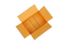 Ouvrez la boîte en carton ondulé vide de carton Images libres de droits