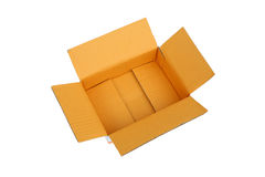 Ouvrez la boîte en carton ondulé vide de carton Photo libre de droits