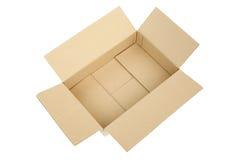 Ouvrez la boîte en carton ondulé vide de carton Image libre de droits