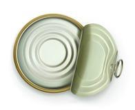 Ouvrez la boîte en fer blanc, icône de vecteur de vue supérieure illustration libre de droits
