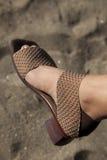 Ouvrez la chaussure à la plage Images libres de droits