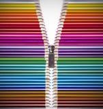 Ouvrez la créativité avec les crayons colorés Photographie stock