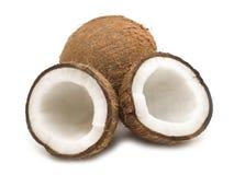 Ouvrez la noix de coco Photographie stock