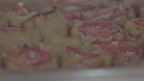 Ouvrez la nourriture de buffet clips vidéos