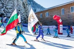 Ouvrez la nouvelle saison 2015-2016 de ski dans Bansko, Bulgarie Images stock