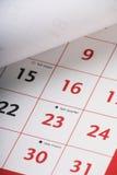Ouvrez la page de calendrier Photographie stock libre de droits