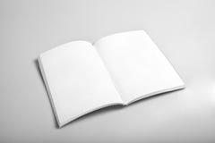 Ouvrez la revue avec les pages blanc Images libres de droits