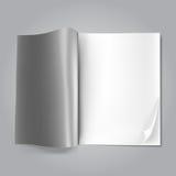 Ouvrez la revue blanc Photos libres de droits