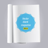 Ouvrez la revue blanc de livre illustration stock