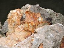 Ouvrez la roche avec des couleurs multiples Photos libres de droits