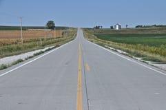 Ouvrez la route Iowa Photo stock