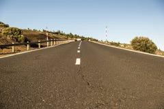 Ouvrez la route sur Ténérife Espagne Images stock