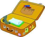 Ouvrez la valise Image libre de droits