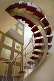 Ouvrez la valise d'escalier Photographie stock