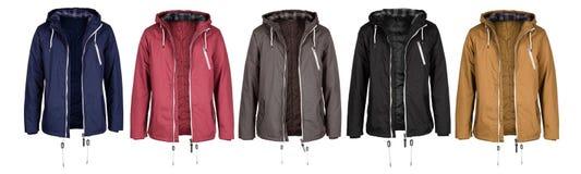 Ouvrez la veste dans cinq couleurs photographie stock libre de droits