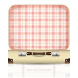 Ouvrez la vieille rétro valise de vintage Images libres de droits