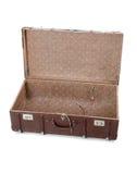 Ouvrez la vieille valise Images stock