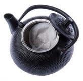Ouvrez le bac de thé avec le sachet à thé Photos libres de droits