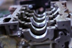Ouvrez le bloc-cylindres du moteur de voiture, réparation, plan rapproché image libre de droits