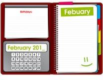Ouvrez le bloc-notes, organisateur, cahier, agenda Photos stock