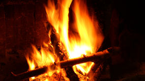 Ouvrez le brûleur de rondin Photo libre de droits