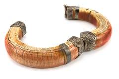 Ouvrez le bracelet en ivoire Image stock
