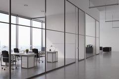 Ouvrez le bureau avec le mur de verre illustration libre de droits