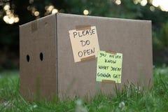 Ouvrez le cadeau Images libres de droits