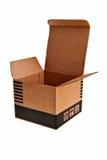 Ouvrez le cadre brun de carton. Photo stock