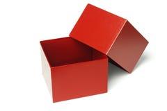Ouvrez le cadre de cadeau rouge Photo stock