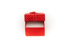 Ouvrez le cadre de cadeau rouge Images stock