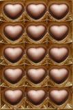 Ouvrez le cadre de chocolats. Photos stock