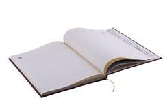 Ouvrez le cahier Images libres de droits